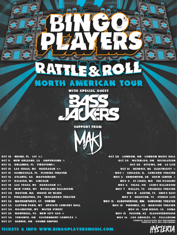 bingo-players-rock and roll tour flyer 2013