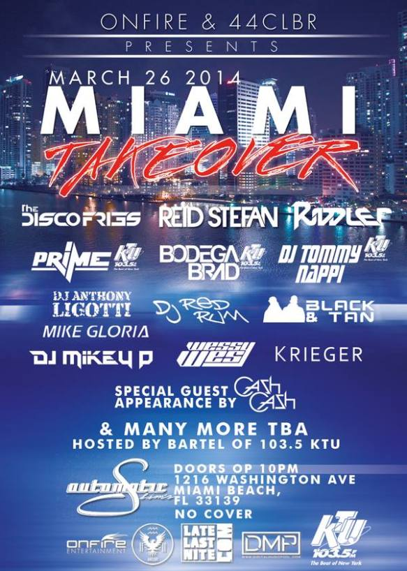 Miami Takeover- WMC Showcase 2014